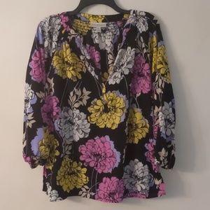 Dana Buchman Floral Print Top XL